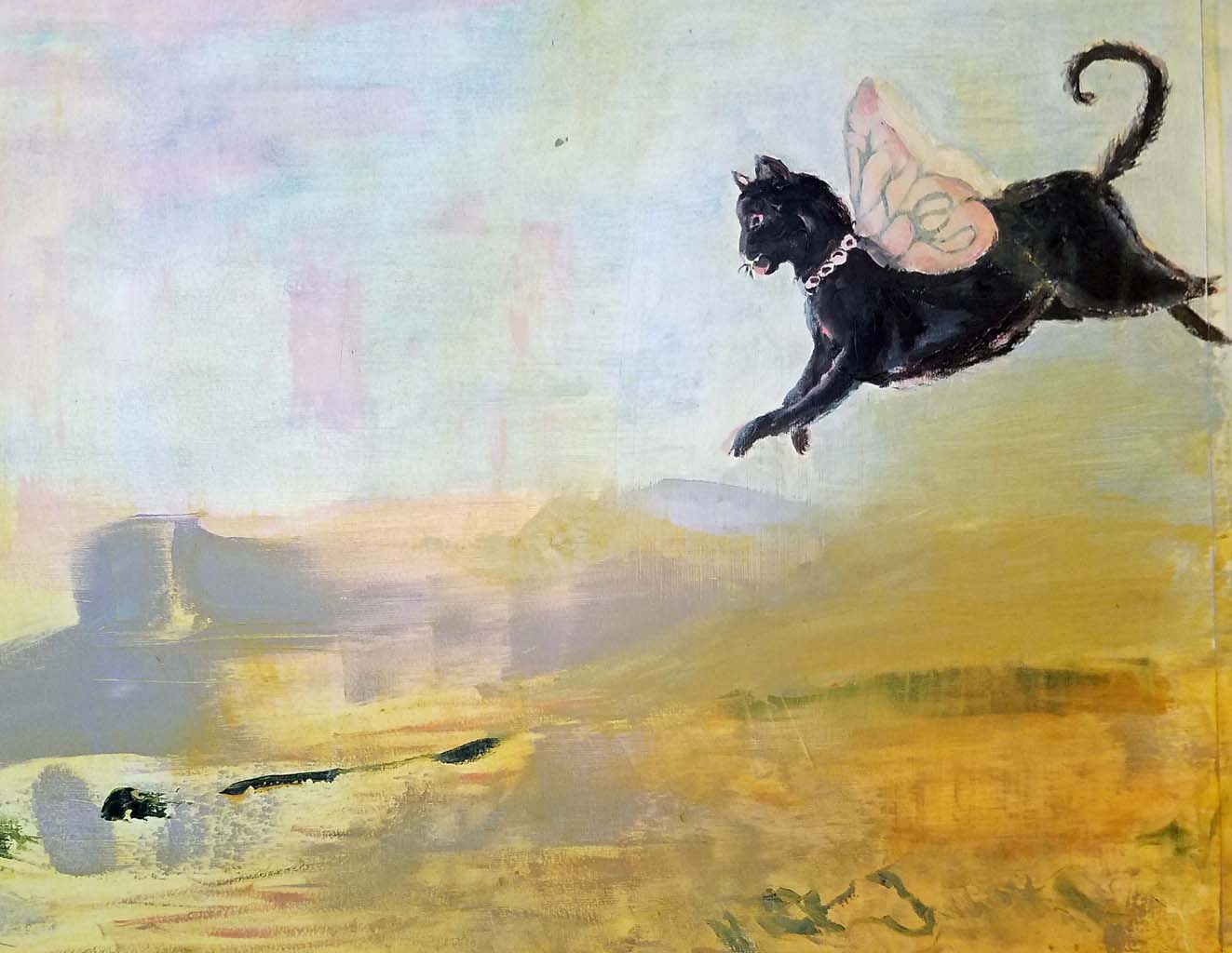 Cat After Life, oil on canvas