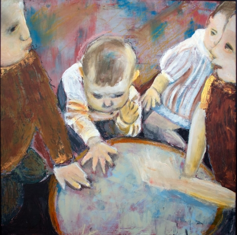 Eliza Drum Circle, oil on canvas