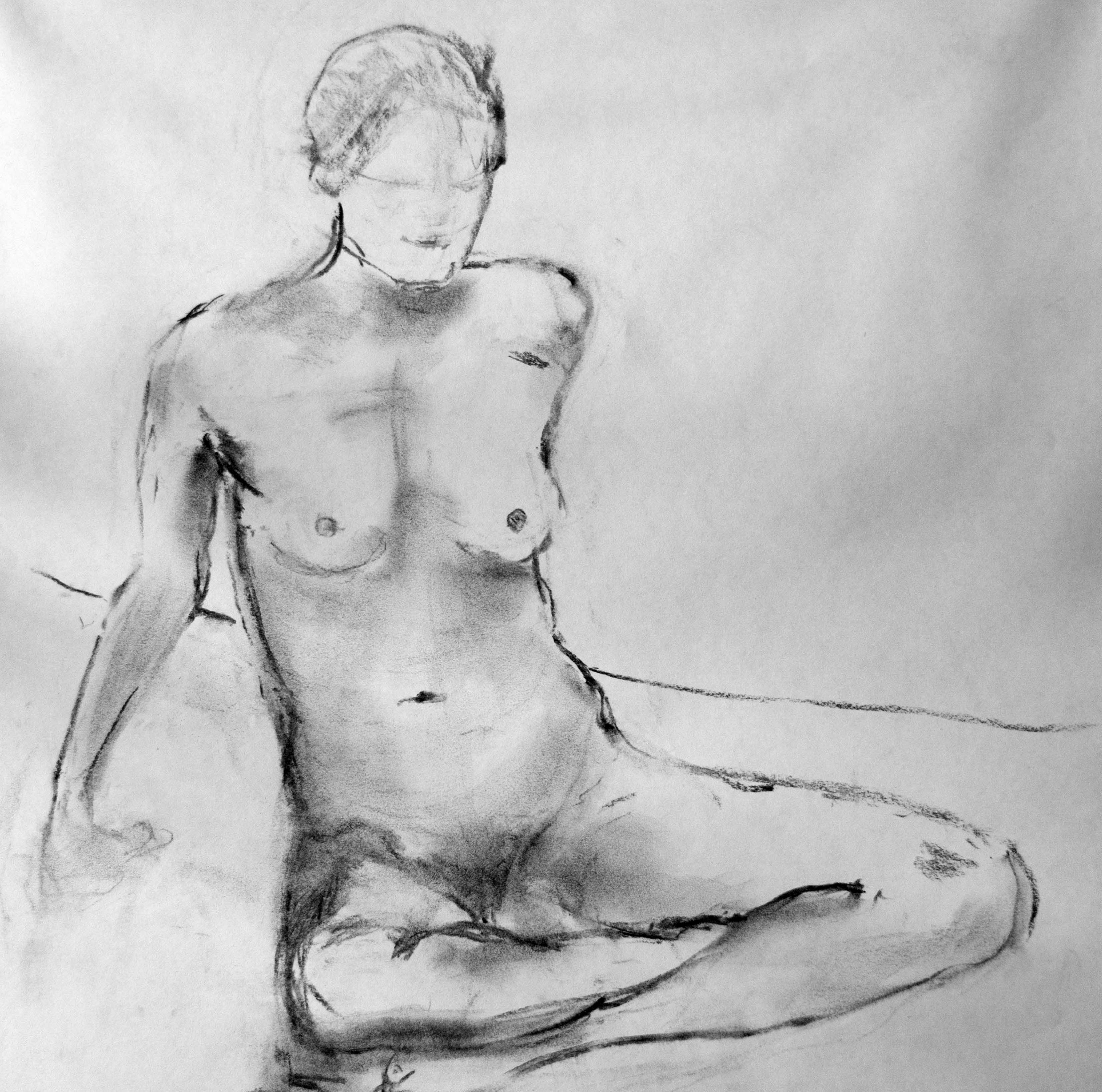 Figure in charcoal #2