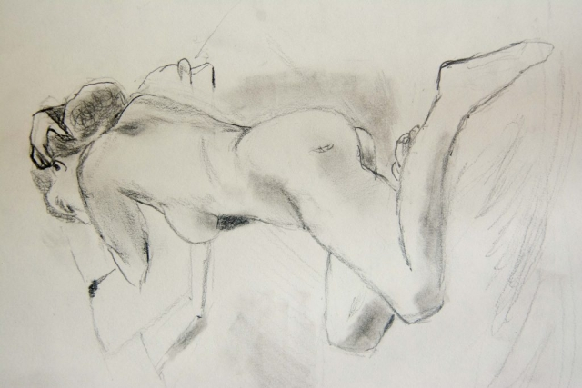 Figure 005, charcoal on paper