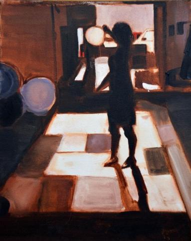 Warehouse Figure #1, oil on canvas