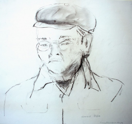 Howard, charcoal on paper