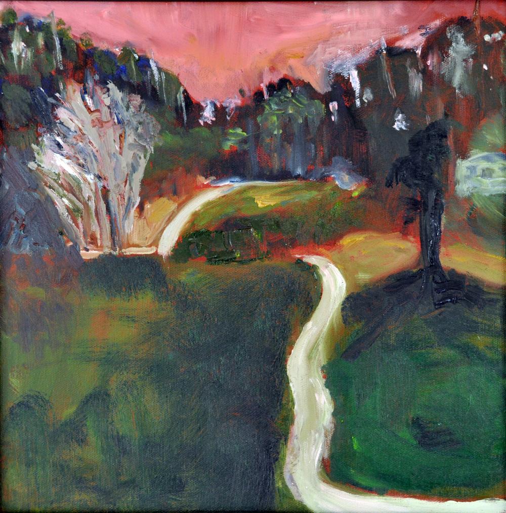 Night Walk, oil on canvas