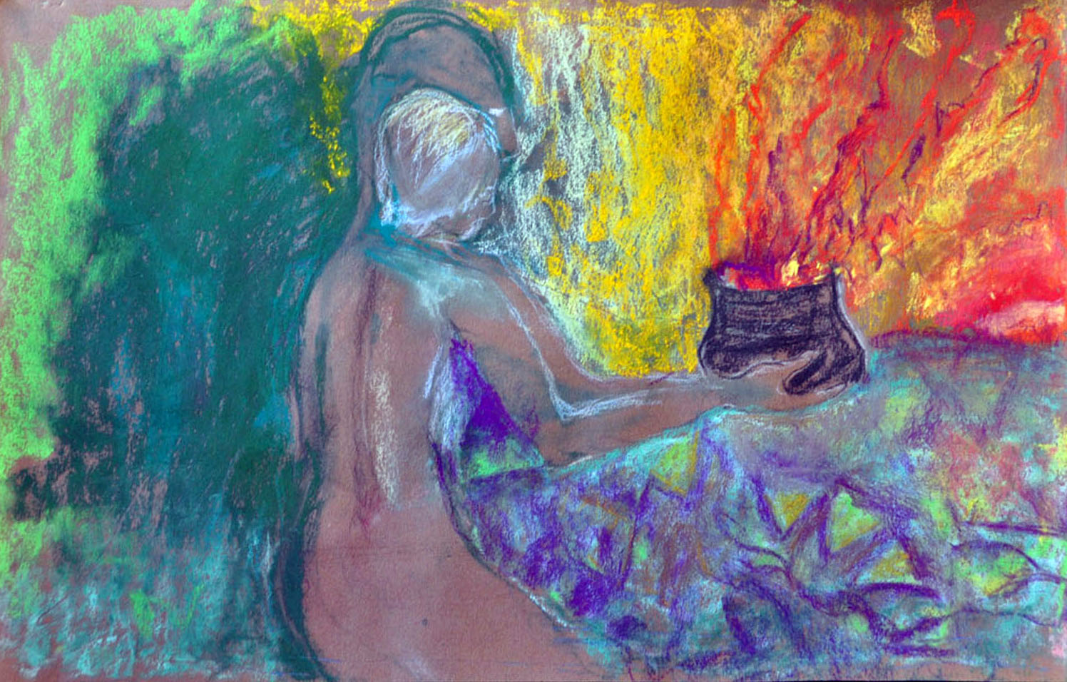 Offering, pastel
