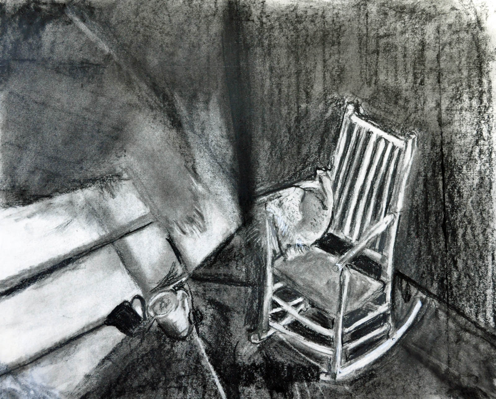 Rocking Chair, charcoal