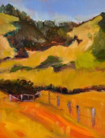 Watsonville Hills, oil on canvas (sold)