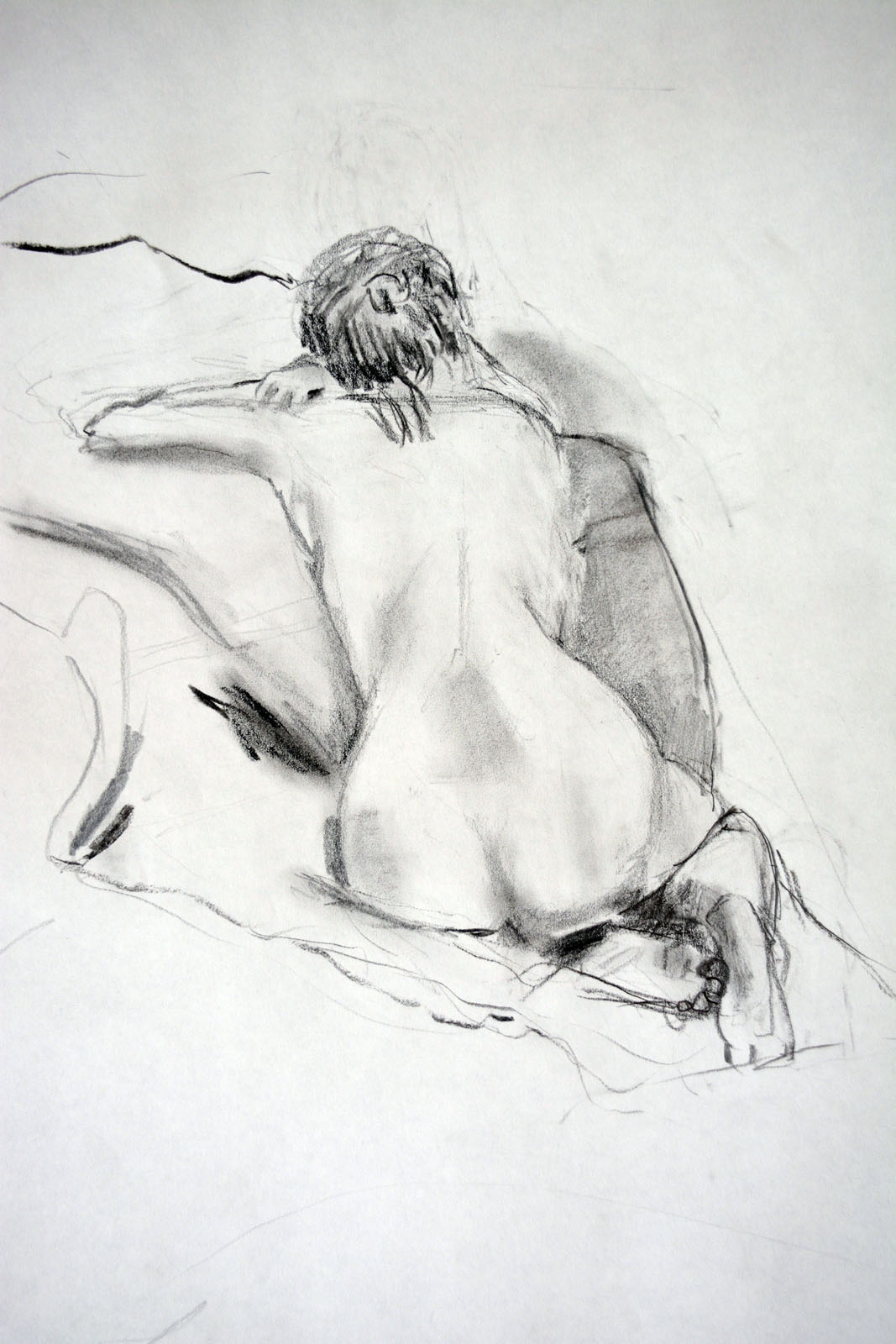 Woman, charcoal on paper